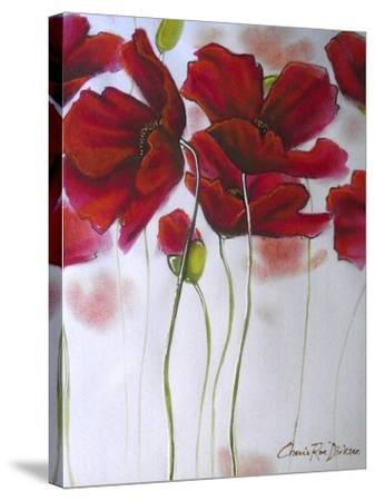 Red Poppies-Cherie Roe Dirksen-Stretched Canvas Print