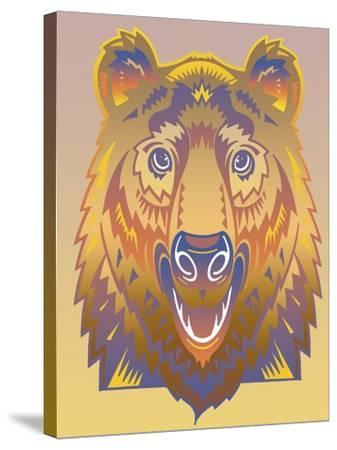 Bear-David Chestnutt-Stretched Canvas Print