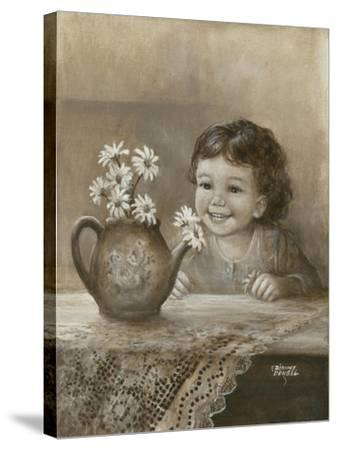 Kid with Daises-Dianne Dengel-Stretched Canvas Print
