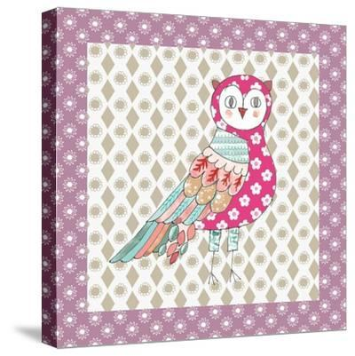 Xmas Owl-Effie Zafiropoulou-Stretched Canvas Print