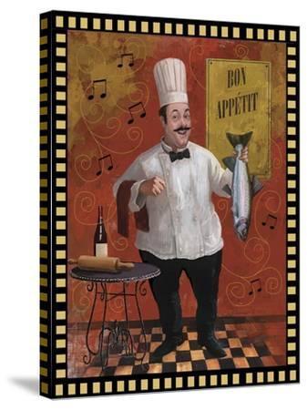Chef Fish Master Design-Frank Harris-Stretched Canvas Print