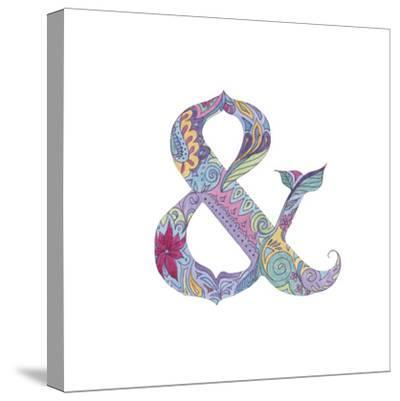 Ampersand-Green Girl-Stretched Canvas Print