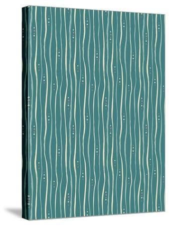 Teal Stripe Pattern-Esther Loopstra-Stretched Canvas Print