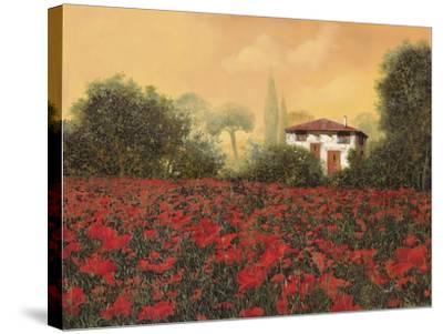 La Casa e i Papaveri-Guido Borelli-Stretched Canvas Print