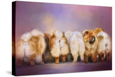 Waiting in Line-Jai Johnson-Stretched Canvas Print