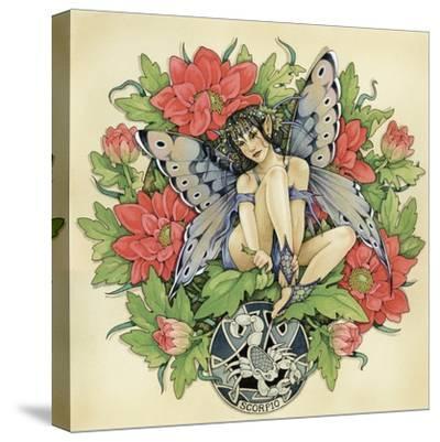 Scorpio-Linda Ravenscroft-Stretched Canvas Print