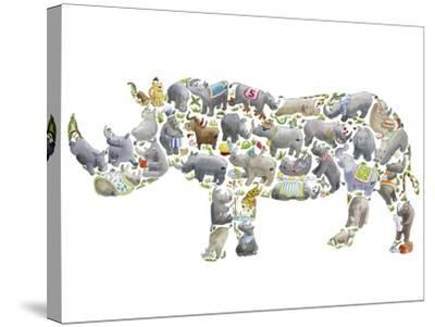 Rhino-Louise Tate-Stretched Canvas Print