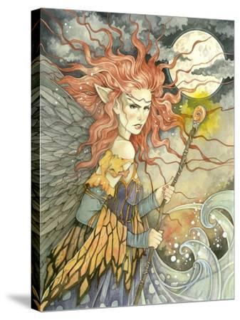 A Storms Brewing-Linda Ravenscroft-Stretched Canvas Print