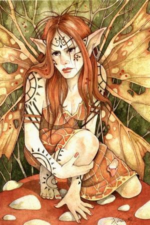 Firestarter-Linda Ravenscroft-Stretched Canvas Print
