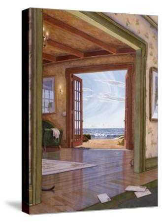 Interior with Cat Tail-Lee Mothes-Stretched Canvas Print
