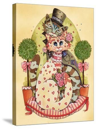 A Purrrrfect Match-Linda Ravenscroft-Stretched Canvas Print