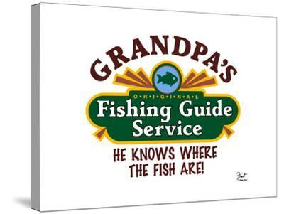 Grandpa's Fishing Guide Service-Mark Frost-Stretched Canvas Print