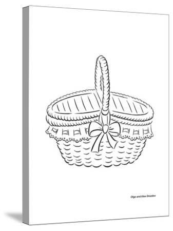 Basket with a Bow-Olga And Alexey Drozdov-Stretched Canvas Print