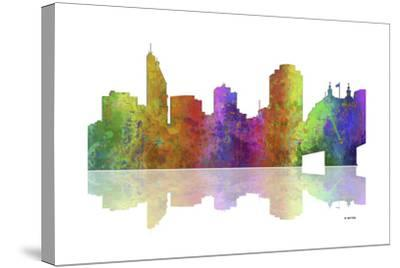 Cincinnati Ohio Skyline 1-Marlene Watson-Stretched Canvas Print