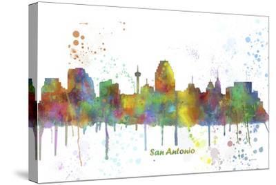 San Antonio Texas Skyline MCLR 1-Marlene Watson-Stretched Canvas Print