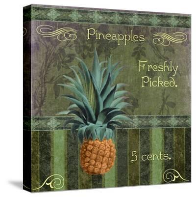 Fresh Pineapples-Mindy Sommers-Stretched Canvas Print