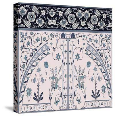 Wedgewood Trellis-Mindy Sommers-Stretched Canvas Print