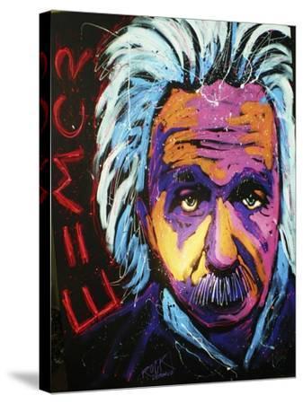 Einstein New 001-Rock Demarco-Stretched Canvas Print