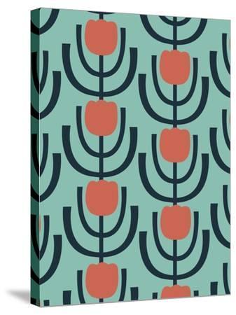Flower Garden 2-Rachel Gresham-Stretched Canvas Print