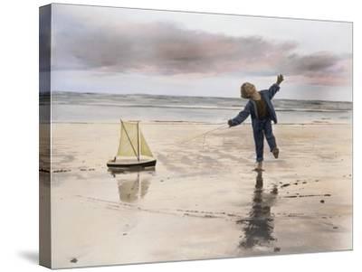Boy, Fishing-Nora Hernandez-Stretched Canvas Print