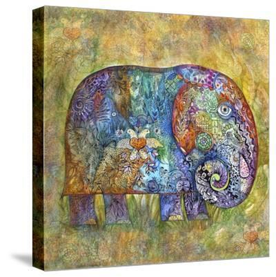 Runes Elephant-Oxana Zaika-Stretched Canvas Print