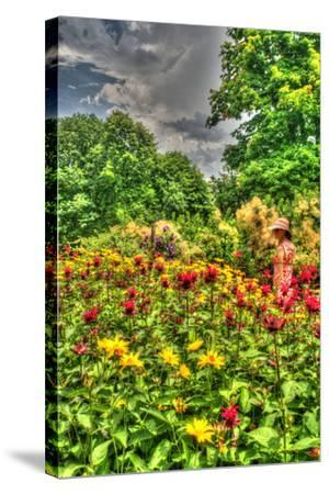 Model Release Garden Vertical-Robert Goldwitz-Stretched Canvas Print