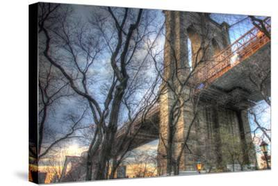 Brooklyn Bridge Early Spring-Robert Goldwitz-Stretched Canvas Print