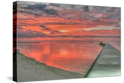 Red Higgs Sunrise-Robert Goldwitz-Stretched Canvas Print
