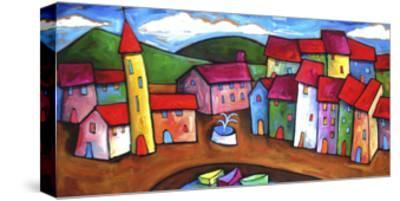 Village in the Costa Brava, Spain-Sara Catena-Stretched Canvas Print