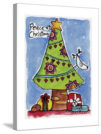 Watercolour Planet - Christmas Peace-Sara Catena-Stretched Canvas Print