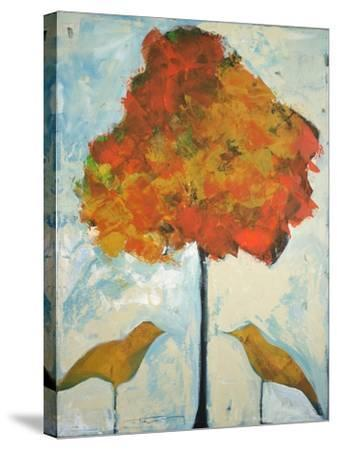 Gold Birds and Maple-Tim Nyberg-Stretched Canvas Print