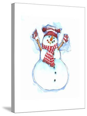 Santa's Snowmen-Wendy Edelson-Stretched Canvas Print