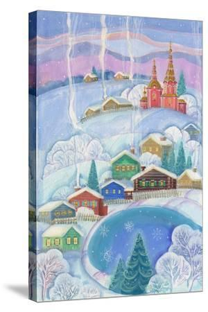 Cottages under the Snow Cabin-ZPR Int'L-Stretched Canvas Print