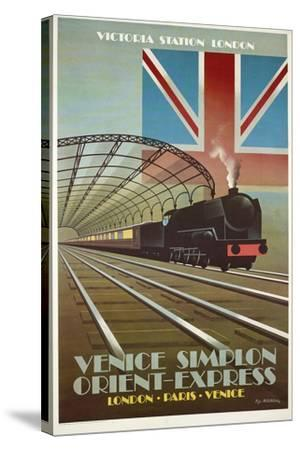 Orient Express-Vintage Apple Collection-Stretched Canvas Print