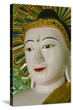Myanmar. Mandalay. Sagaing Hill. Thirty Caves Temple. Buddha-Inger Hogstrom-Stretched Canvas Print