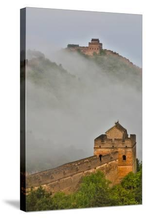 Great Wall of China on a Foggy Morning. Jinshanling, China-Darrell Gulin-Stretched Canvas Print