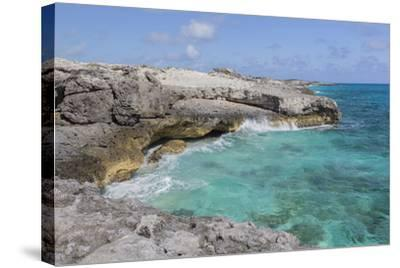 Bahamas, Exuma Island, Cays Land and Sea Park. Site of the Blow Hole-Don Paulson-Stretched Canvas Print