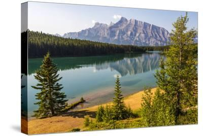 Canada, Alberta, Banff National Park, Two Jack Lake and Mount Rundle-Jamie & Judy Wild-Stretched Canvas Print