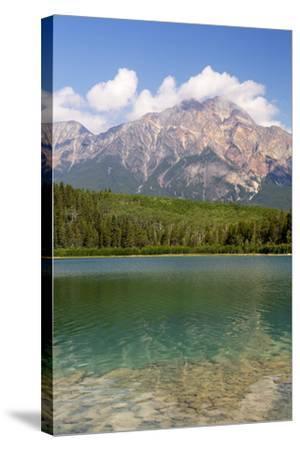 Canada, Alberta, Jasper NP, Pyramid Mountain and Patricia Lake-Jamie & Judy Wild-Stretched Canvas Print