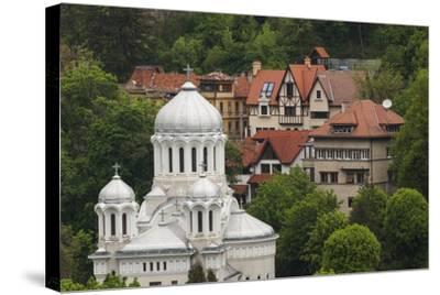 Romania, Transylvania, Brasov, Buna Vestire Orthodox Church-Walter Bibikow-Stretched Canvas Print