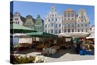 New Market Square, Rostock, Germany-Peter Adams-Stretched Canvas Print