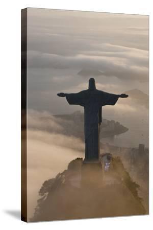 Art Deco Statue of Jesus, Corcovado Mountain, Rio de Janeiro, Brazil-Peter Adams-Stretched Canvas Print
