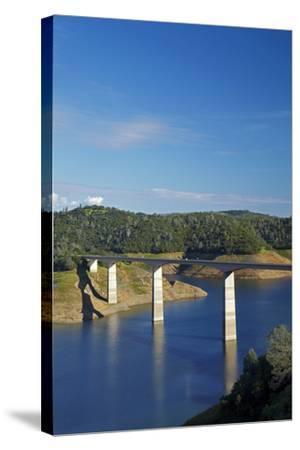 Archie Stevenot Bridge Carrys SR 49 across New Melones Dam, California-David Wall-Stretched Canvas Print