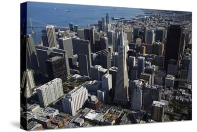 California, San Francisco, Transamerica Pyramid Skyscraper and Skyline-David Wall-Stretched Canvas Print