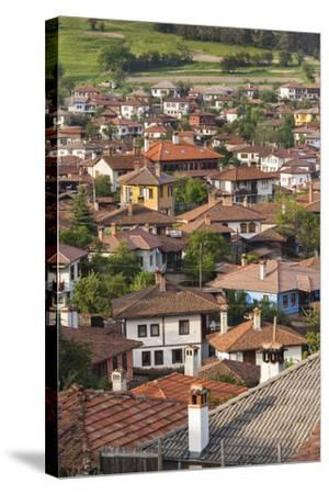 Bulgaria, Central Mountains, Koprivshtitsa, Elevated Village View-Walter Bibikow-Stretched Canvas Print