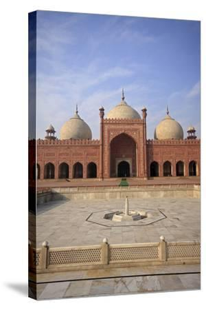 View of Badshahi Masjid, One of the Biggest Mosques in the World-Yasir Nisar-Stretched Canvas Print