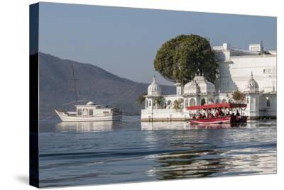 Palace Hotel. Jag Niwas. Lake Pichola. Udaipur Rajasthan. India-Tom Norring-Stretched Canvas Print