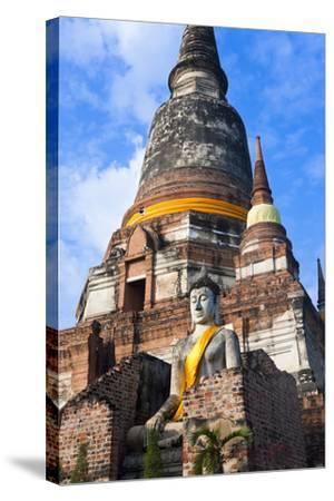 Wat Yai Chai Mongkol, Ayutthaya, Thailand-Peter Adams-Stretched Canvas Print