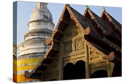Wat Phra Singh, Chiang Mai, Thailand, South East Asia-Peter Adams-Stretched Canvas Print