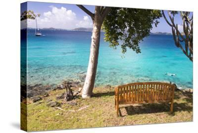 Us, Usvi, Snorkelers St John with St Thomas Beyond-Trish Drury-Stretched Canvas Print